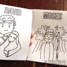 bible character mini coloring book jw printables