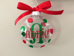 personalized christmas ornament plastic kids children baby