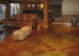 stained concrete basement floor home design