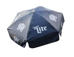 miller lite vinyl 6 ft patio umbrella beer logo umbrellas