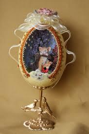 spirits in shells are designs of emu egg beaded eggs diorama