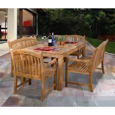 Outdoor Teak Patio Furniture by Amazonia Geneve 5 Piece Teak Patio Dining Set Sc Geneve The Home