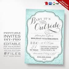 printable diy christmas party invitation u2013 winter holiday party