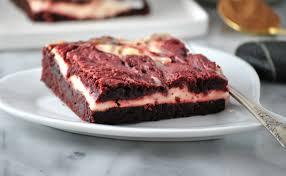 vegan red velvet cheesecake brownies eat drink shrink