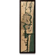 Map Of Fort Lauderdale Florida by Ft Lauderdale Wood Map 3d Nautical Topographic Chart Framed Art