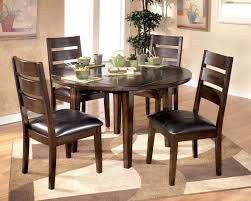 expandable round dining table with dark parson dining dining room