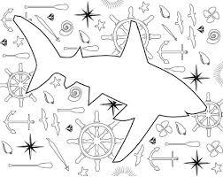 2 shark coloring pages shark week favecrafts