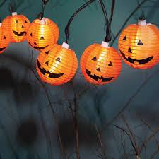 Walmart Halloween Lights by Halloween 10 Count Fabric Pumpkin Lantern Lights Walmart Com