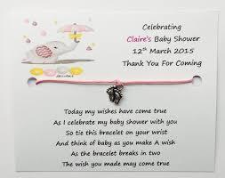 shower wish bracelets elephant design