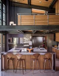 one architect five ways to do a modern kitchen better real norman cherner barstools from design within reach line the island in the kitchen