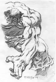 hulk sketch in fernando merlo u0027s sketches comic art gallery room