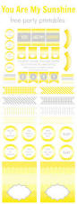 You Are My Sunshine Decorations We Heart Parties Free Printables You Are My Sunshine Free Printables