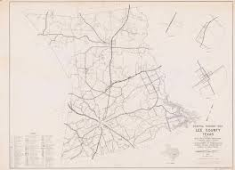 Texas Highway Map General Highway Map Lee County Texas The Portal To Texas History