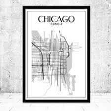 chicago map printable seattle seattle city map travel seattle decor