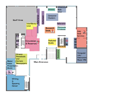 maps floor plans library bates college