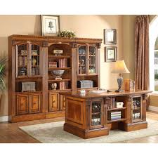 wall library parker house huntington executive desk with library wall unit for