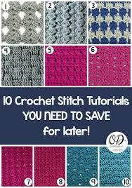 Pattern Of Crochet Stitches   letsjustgethooking free pattern 10 crochet stitches disclaimer fir