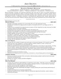 Film Assistant Director Resume Sample by Sample Property Manager Resume Manager Resume February 24 2016
