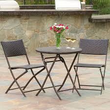 cantinela 3pc outdoor wicker folding bistro set contemporary