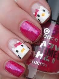 misch u0027s beauty blog notd february 6th hello kitty nail art