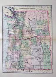 Oregon State Road Map by Prints Old U0026 Rare Oregon Page