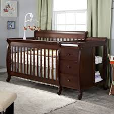 Sorelle Tuscany 4 In 1 Convertible Crib And Changer Combo by Tuscany Convertible Crib And Changer Combo Espresso Creative