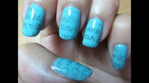 newspaper ombre nail art nail art designs easy nail art tutorial