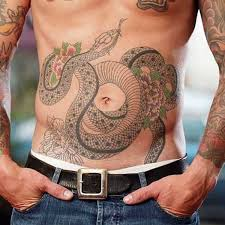 collection of 25 japanese stomach tattoos for