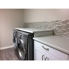 Smart Tiles Kitchen Backsplash Peel And Stick Wall Tiles Capri Taupe Dual Finish Smart Tiles