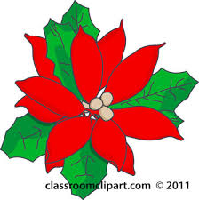 Christmas Flowers Christmas Flowers Clip Art Clipart