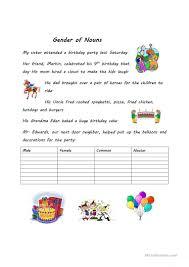 Nouns Worksheet Gender Of Nouns Worksheet Free Esl Printable Worksheets Made By