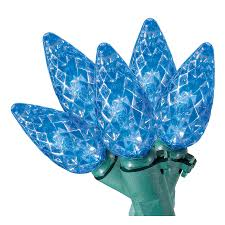 shop living 50 count 12 25 ft constant blue c6 led in