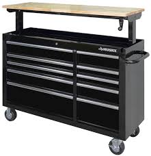 husky adjustable work table husky adjustable height mobile workbench