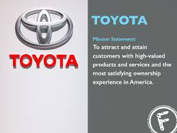 toyota products toyota mission statement to attract