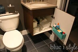 organizing with style bathroom storage outside of the bathroom