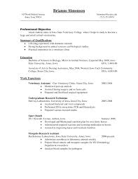 Restaurant Resume Templates Veterinary Technician Resume Examples Resume Example And Free