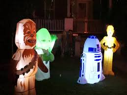 Inflatable Halloween Decorations Yard Halloween Decorations Star Wars Theme Yard Youtube