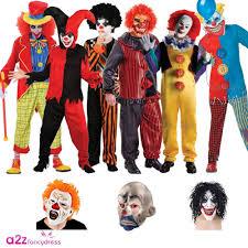 kids adults clown jester horror scary halloween circus fancy dress