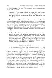 last paragraph of a cover letter 9 conclusions and recommendations mathematics learning in early