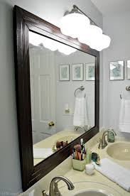 bathroom mirror frame project sapphire diy tile mirror holy