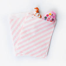 pink favor bags favor bags 48 coral light pink paper bags with white stipes candy