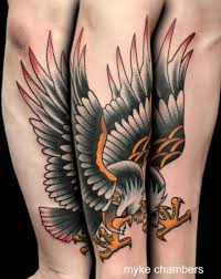 old eagle tattoo by mike chambers