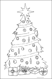 christmas tree coloring pages free printable pictures coloring