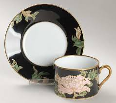 fitz floyd cloisonne peony black at replacements ltd page 1