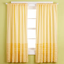 Yellow Ruffle Curtains by Caring For Gingham Curtains Interiors Design
