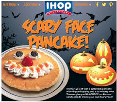 ihop black friday ihop free scary face pancakes for kids on 10 31 money saving quest