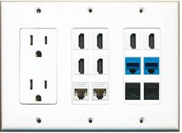 home theater wall plate computer cables custom wall plates fiber optic cables ethernet