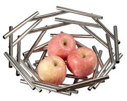 gilles small stainless steel fruit bowl