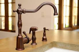 kohler rubbed bronze kitchen faucet kohler bronze faucet shn me