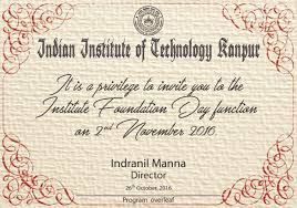 Invitation Card For New Home Dofa Iit Kanpur